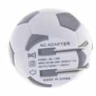 Portable Football Style US Plugss USB Power Adapter - Black + White (120~240V)