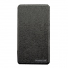 10000mAh Dual-USB PU Leather Li-polyer Mobile Power w/ Mirror / Stand for IPHONE / Samsung - Black