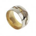Fashionable 318L Stainless Steel Ring for Men - Golden + Silver (U.S Size 9)