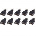 CM01 Micro HDMI Male to HDMI Female Adapters - Black (10 PCS)