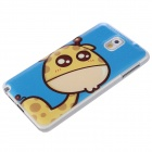ENKAY Lovely Giraffe Pattern Back Case for Samsung Galaxy Note 3 N9000 - Blue + Multi-Colored