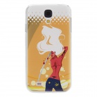 Kinston Killer Girl Pattern Back Veske til Samsung Galaxy S4 i9500 - Orange + Rød + Flerfarget