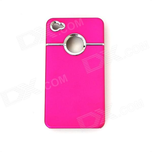 Protective Silicone Back Case for IPHONE 4 / 4S - Dark Pink prestigio muze b7 5 01280 720ips display dual sim android 6 0 1 3ghz quad core 2gb ddr 16gb flash 2 0mp front 13 0mp rear camera with flash light 2300mah battery black[psp7511duoblack]