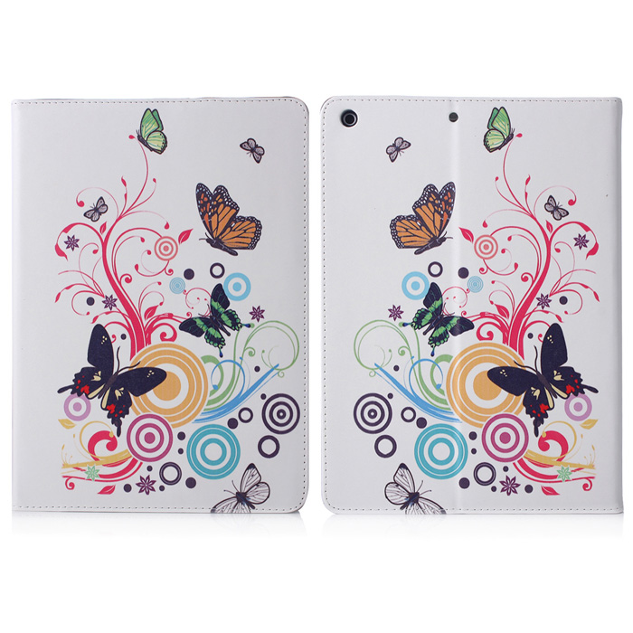 ENKAY Butterfly Pattern Auto Sleep and Wake Up Protective Case for IPAD Mini / Mini 2 butterfly bling diamond case