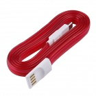 USB 2.0 to Micro USB Charging / Data Sync Cable w/ LED for Samsung / Motorola + More - Red (100cm)