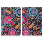 ENKAY Jellyfish Pattern Auto Sleep and Wake Up Protective Case for IPAD Mini / Mini 2 - Multicolor