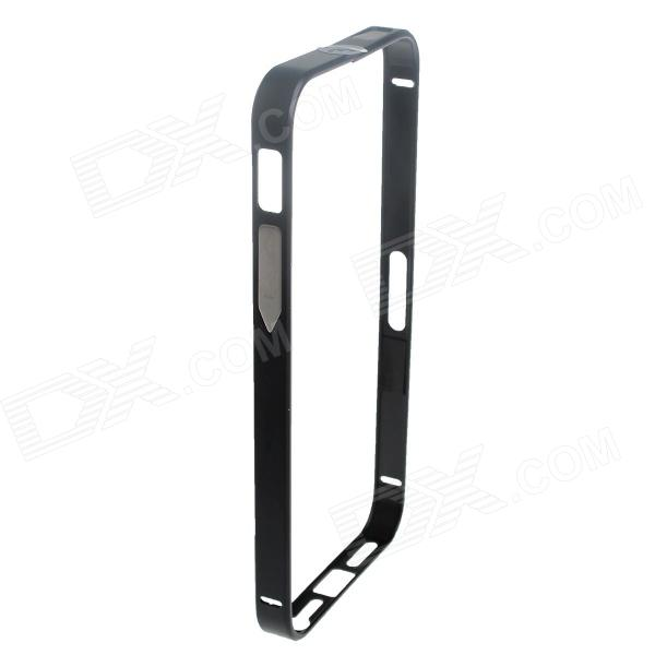 Ultrathin Protective Aluminum Alloy Bumper Case for IPHONE 5 / 5S - Black