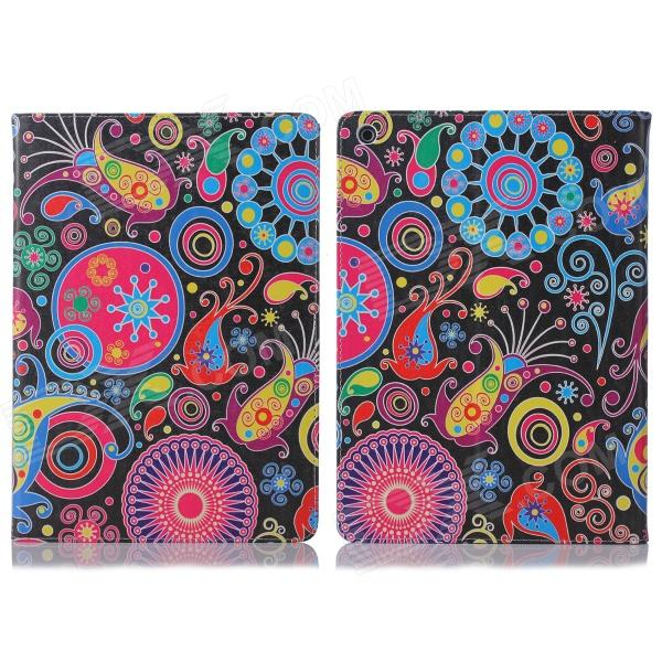 ENKAY Jellyfish Pattern Protective PU Leather Smart Case w/ Stand for IPAD Air / IPAD 5 - Multicolor ikki jellyfish pattern protective pu leather case w stand for motorola moto g black multicolor