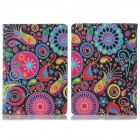 ENKAY Jellyfish Pattern Protective PU Leather Smart Case w/ Stand for IPAD Air / IPAD 5 - Multicolor