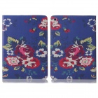 ENKAY Flower Pattern Protective PU Leather Smart Case w/ Stand for IPAD Air / IPAD 5 - Multicolor