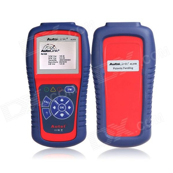 Autel AutoLink AL419 Diagnostic Scan Tool - Red + Blue (English)