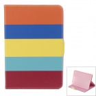 Flip Open Protective PU Leather + Silicone Case Stand w/ Auto-Sleep Cover for IPAD Air