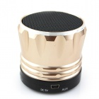 MÚSICA S10 Super Mini Speaker Bluetooth w / Mic / USB-dourado + negro