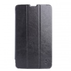 7 Inch Solid Color PU + PC Tablet Case With Stand for ifive IFICE100 Tablet PC - Black