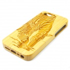 Zebra Pattern Detachable Protective Bamboo Back Case for IPHONE 5 / 5S - Yellow