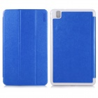 ENKAY 3-Folds Protective PU Leather Case with Stand for Samsung Galaxy Tab 3 Pro T320 - Blue