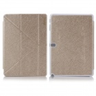 ENKAY Multi-folding Protective PU Leather Case w/ Stand for Samsung Galaxy Tab Pro T520 - Golden