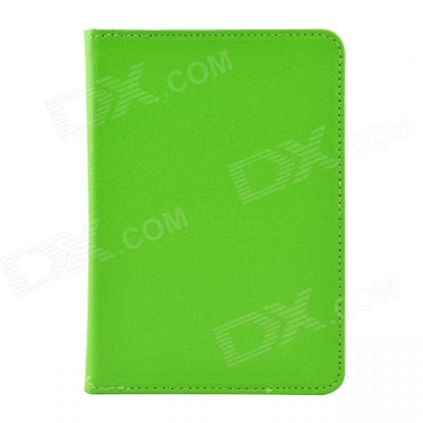 "Litchi Pattern Protective PU Leather Case Cover for Tolino Vision 6"" - Green"