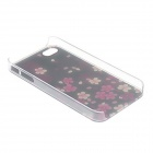 Kinston Peach Blossom Fall in Dark Pattern Matte Designed PC Hard Case for IPHONE 4 / 4S