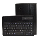Bluetooth V3.0 59-Key Keyboard w/ PU Leather Case Stand for Samsung Galaxy Tab 4 T330 - Black