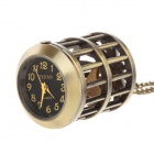 Retro Cage & Pocket Watch Style Sweater Chain Necklace - Antique Brass