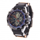 BESNEW BN-0798 Men's Multifunctional Dual Core Rubber Band Sport Wrist Watch (1 x SR626)