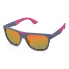 OREKA K357 Fashionable UV400 Protection PC Lens Sunglasses - Grey + Red REVO