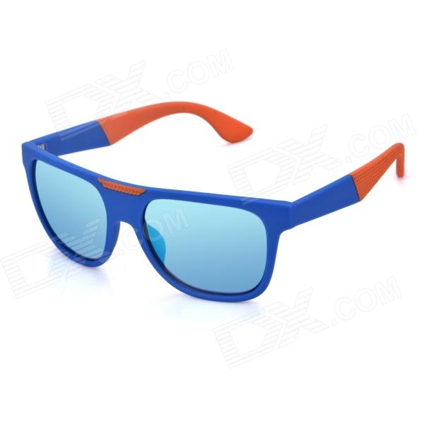 OREKA K357 Fashionable UV400 Protection PC Lens Sunglasses - Blue + Green REVO