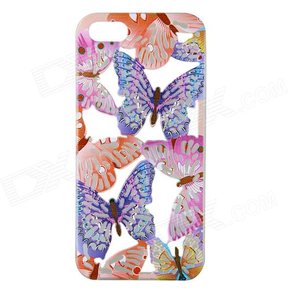 Fashion Hollow Carved Butterfly Design Silicone Case for IPHONE 5 / 5S butterfly bling diamond case