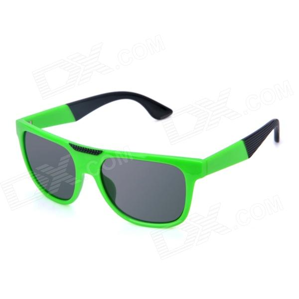 OREKA K357 Fashionable UV400 Protection PC Lens Sunglasses - Green + Grey oreka 1018 sports uv400 protection pc green revo sunglasses translucent grey
