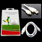Janse Fotball stil 15W Dual USB 2.1A / 1A EU Plug Power lader for iPad / iPhone + More - Hvit