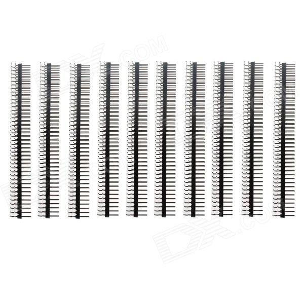DIY GDW MOT2 2.54mm 80-Pin Breakaway ángulo recto Conector macho para Arduino (10 PCS)