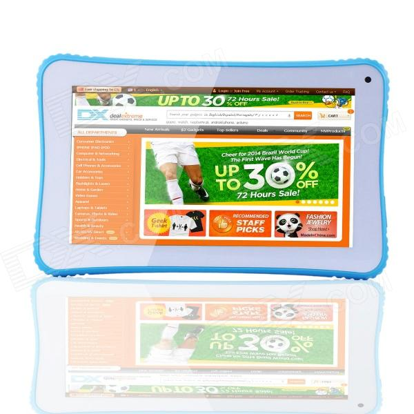 "Q3 7.0 ""Dual-Core Android 4.2 enfants Tablet PC w / 1 Go de RAM, 2 Go de ROM - Bleu"