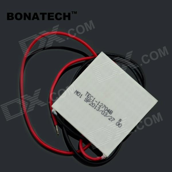 BONATECH 03120311 TEC1-12704 Semiconductor Cooler Cooling Tablet - White (12V / 40 x 40 x 3.8mm)