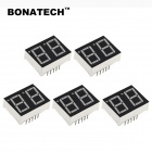 BONATECH 0.56 Inches Seven-Segment Display Module - Black + White (5PCS)