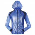 NUCKILY NY0920 Outdoor Sports Cycling Anti-UV Water Resistant Dacron Jacket Coat - Blue (M)