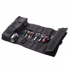 DUALANE C00861 Portable Canvas Travel Roll Bag for GoPro Hero 2 / 3 / 3+ - Black (Large-Size)