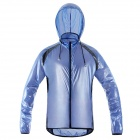 NUCKILY NY0920 Outdoor Sports Cycling Anti-UV Water Resistant Dacron Jacket Coat - Blue (L)