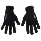 Fashionable Full Fingers Touch Screen Gloves - Black (Pair)