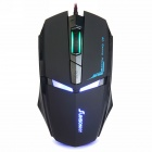 Sunsonny T-M30 USB Wired 6-Button 600 / 1000 / 1600dpi Adjustable LED Gaming Mouse - Black