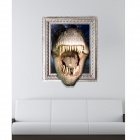 3D Crocodiles Wall Sticker Decal - White + Blue