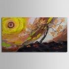 Iarts DX0613-04 Landscape Trees in the Sun Hand Painted Oil Painting - Multicolored