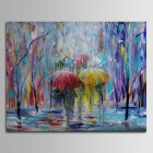 Iarts DX0613-1 Landscape Shadows in the Rain Hand Painted Oil Painting - Multicolored