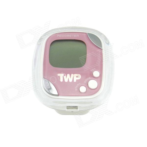 "TWP-690 1.2"" LCD Body Fat Analyzer / stegräknare - ljus lila + vit (1 x AG13)"