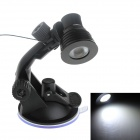 GDW XC1 3W 180lm 6500K LED Car / Desktop USB White Light Spotlight w/ Separate Switch - Black
