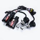 CheSheng Car HID H4 H / L 12V 35W 2600lm 6000K White Light Retractable Lichter Kit für Auto - Schwarz
