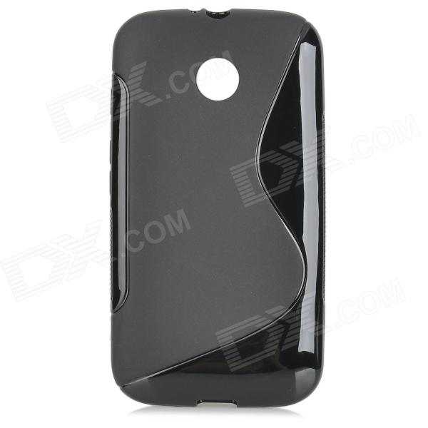 Protective S Style TPU Back Case for Motorola MOTO E - Black триммер vitek vt 2545