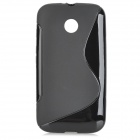 "Protective ""S"" Style TPU Back Case for Motorola MOTO E - Black"