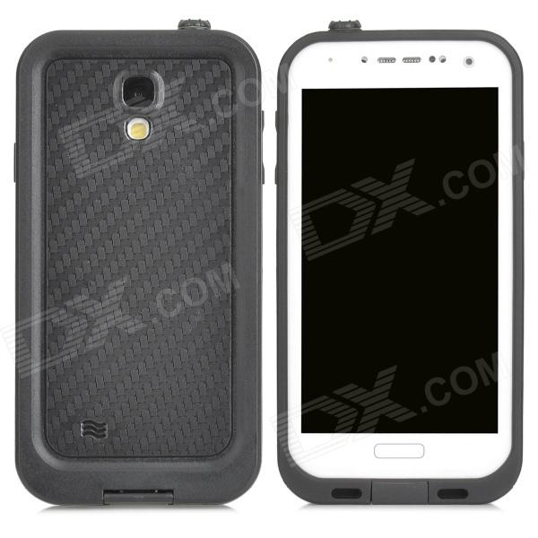 Protective Anti-water Anti-dust Anti-drop Plastic Case Set for Samsung Galaxy S4 - Black + White