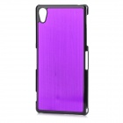 YI-YI Protective Aluminum Alloy Back Case for Sony Xperia Z2 / L50w - Purple
